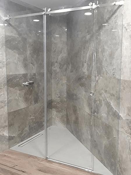 resguardo banheira duche 2 fixo 1 porta correr vidro. 2