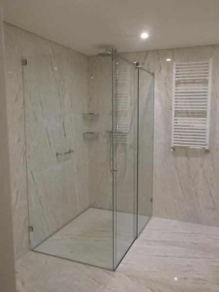resguardo banheira duche 2 fixo 1 porta correr vidro. 3