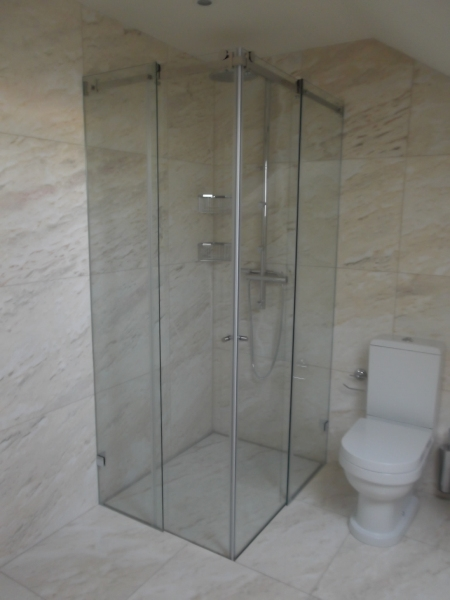 resguardo banheira duche 2 fixo 2 portas correr vidro
