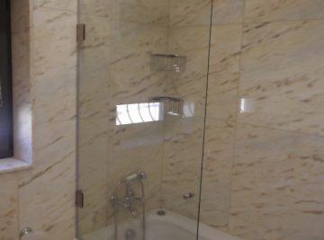 resguardo frontal de banheira duche vidro porta abrir