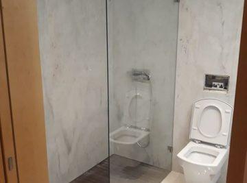 resguardo frontal de banheira duche vidro fixo temperado