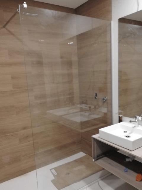 resguardo frontal de banheira duche em vidro fixo temperado 4