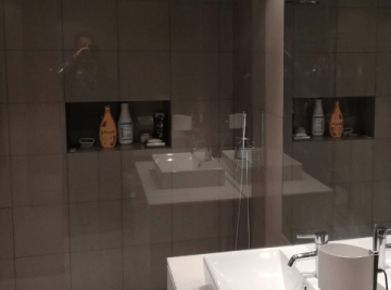 resguardo frontal de banheira duche vidro fixo temperado oslo