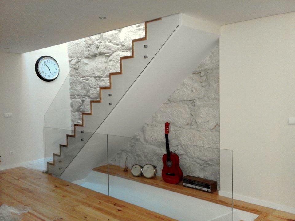 guarda escadas vidro temperado incolor