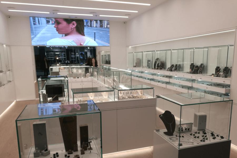 vitrine loja fechadura vidro temperado incolor 8 mm 2