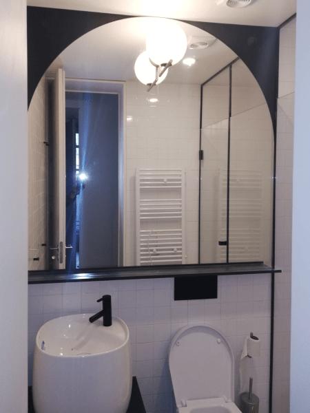 espelho wc detalhe preto
