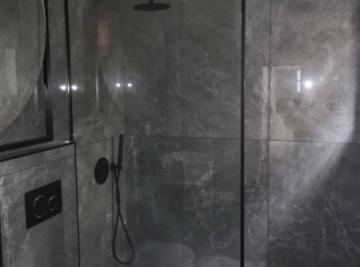 resguardo banheira duche perfil preto